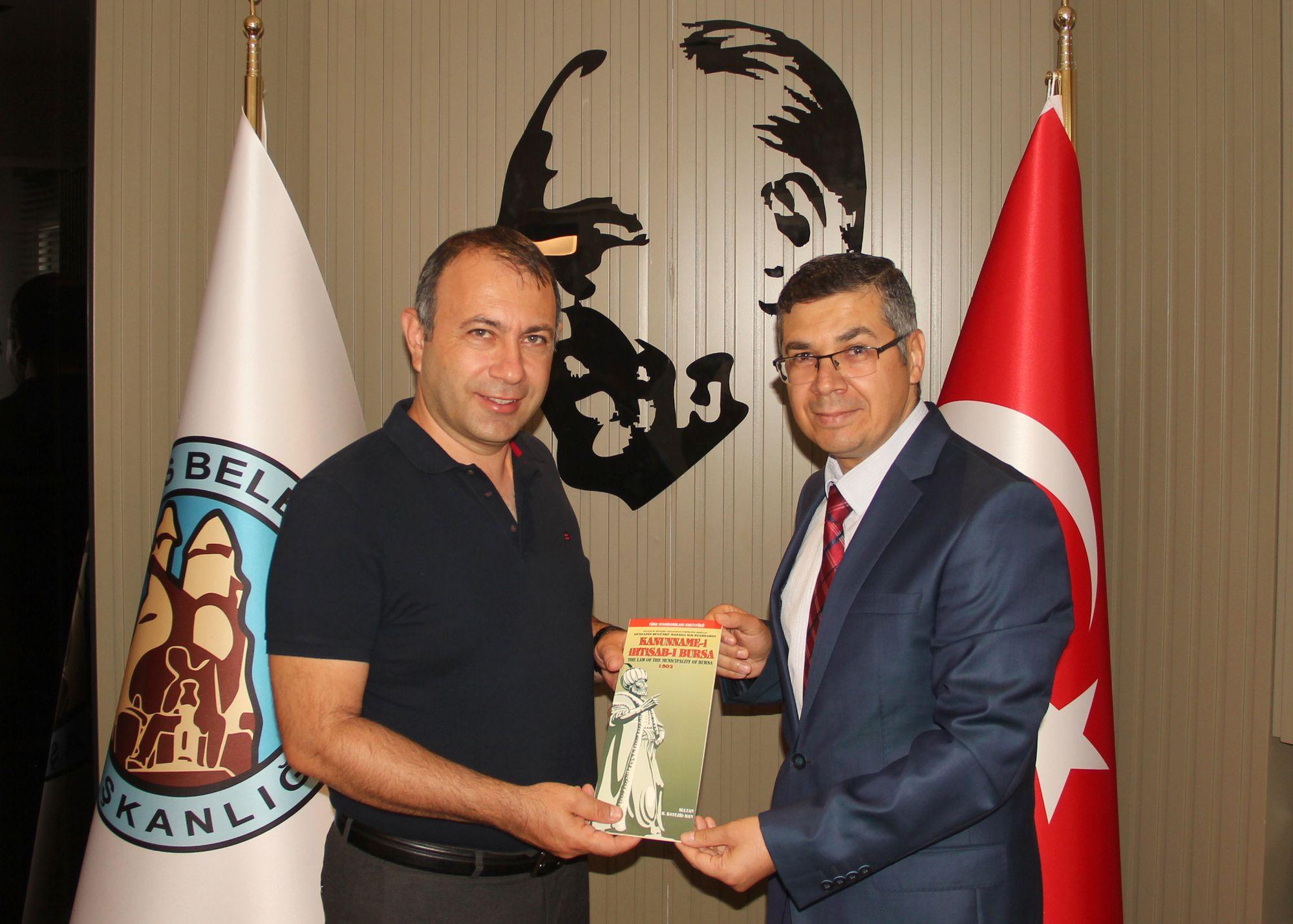 TSE Nevşehir İl Müdürü Şahiner Başkan İbaş'ı Ziyaret Etti.
