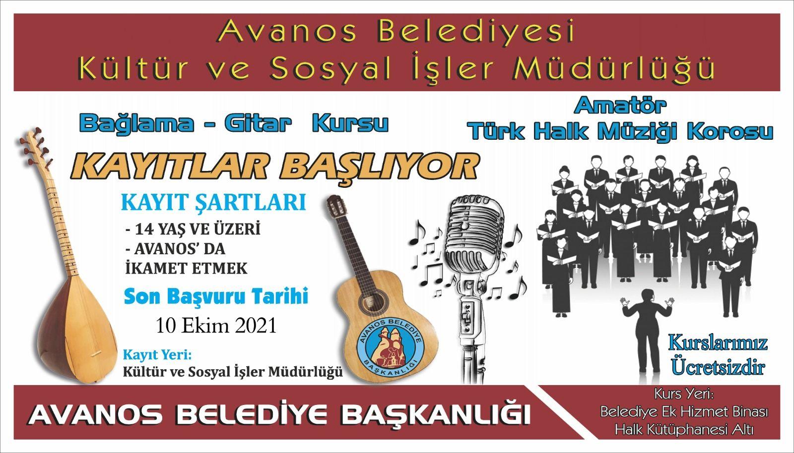 Kültür ve Sosyal İşler Müdürlüğümüz Bünyesinde Yeni Dönem Ücretsiz Kurslarımız Başlıyor.