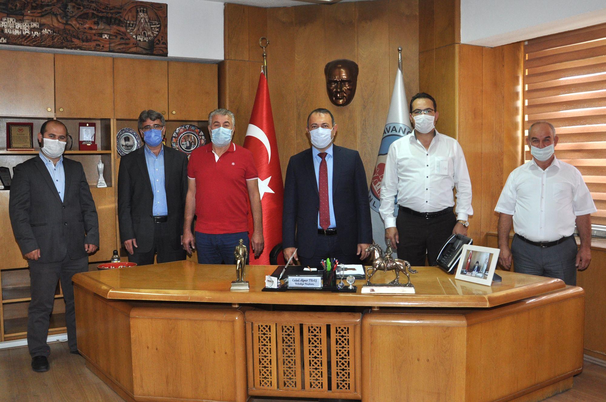 Gazeteciler Başkan İbaş'ı Ziyaret Etti.