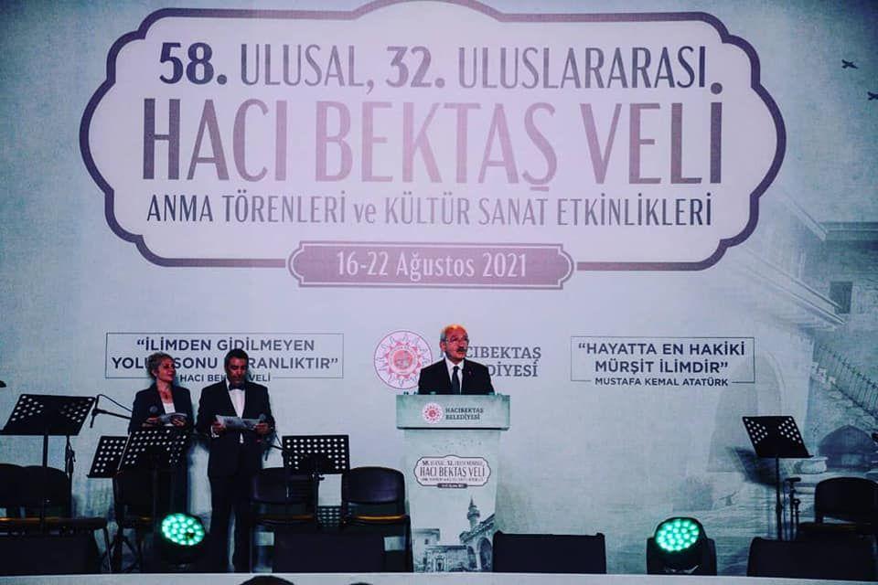 Başkan İbaş 58.Ulusal 32.Uluslararası Hacıbektaş Veli Anma Törenleri ve Kültür Sanat Etkinlikleri Programına katıldı