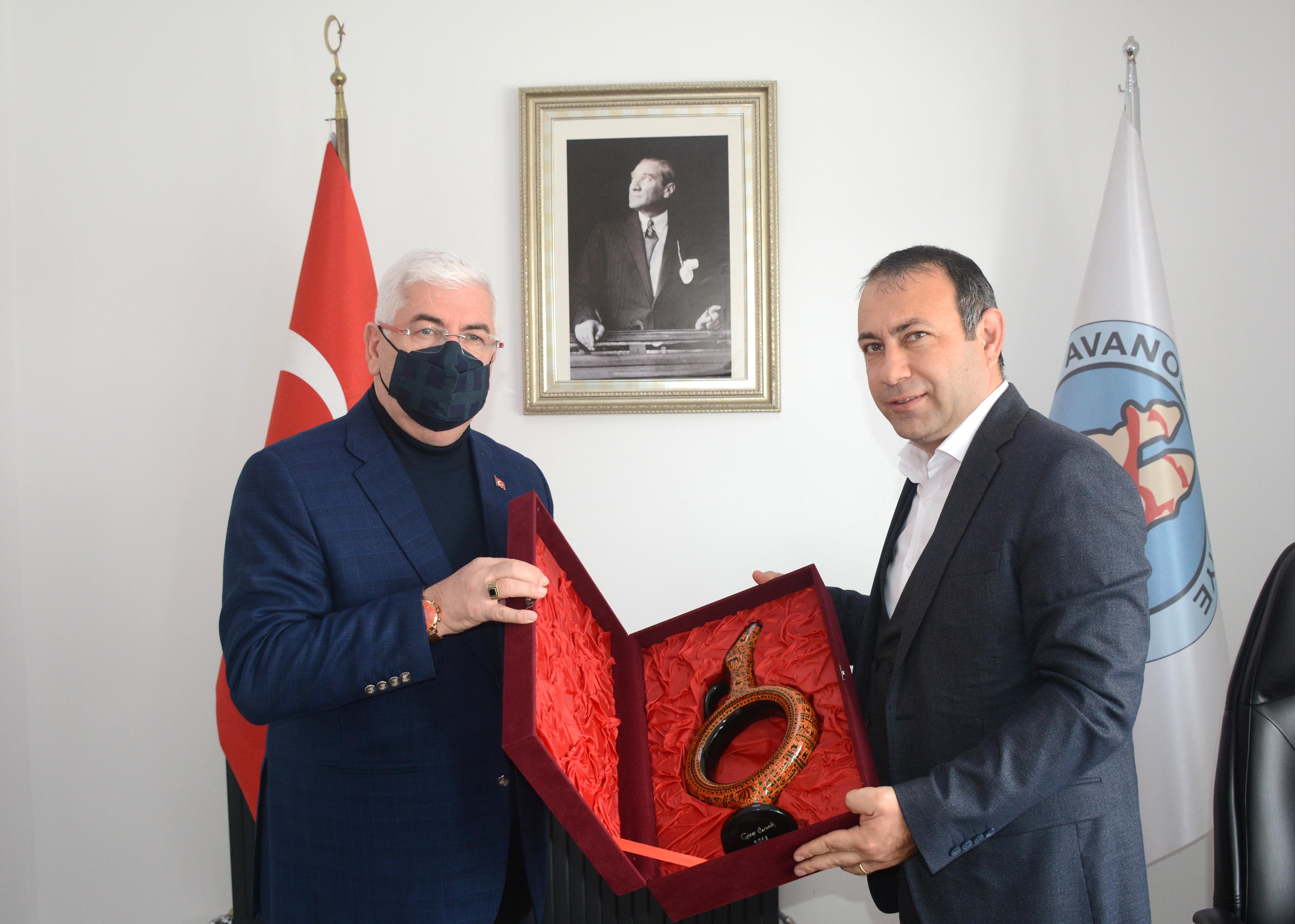 Ergene Belediye Başkanı Rasim Yüksel'den Başkan İbaş'a Ziyaret.