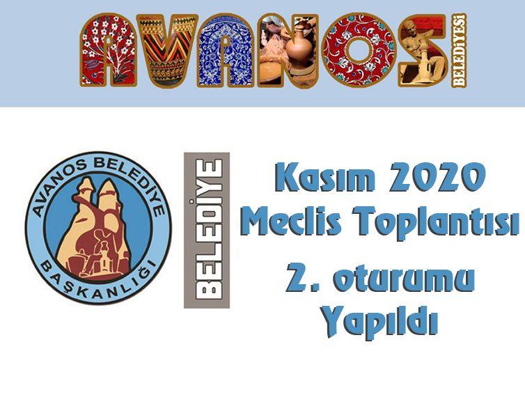 KASIM 2020 BELEDİYE MECLİS TOPLANTISI 2. BİRLEŞİM YAPILDI.