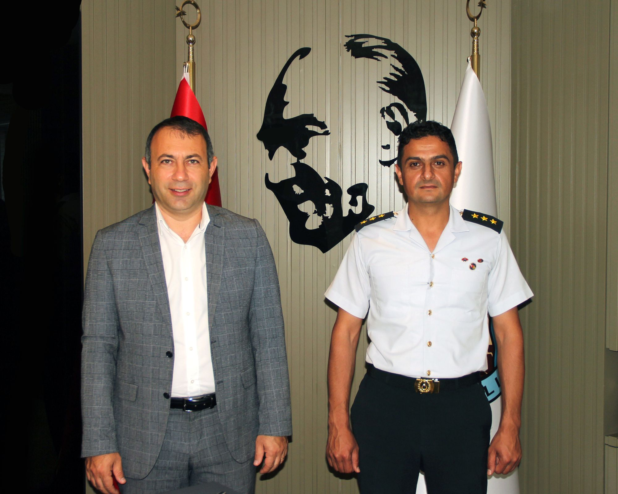 Jandarma KomutanıYüzbaşı Abbas Başer'den Başkan İbaş'a Veda Ziyareti.